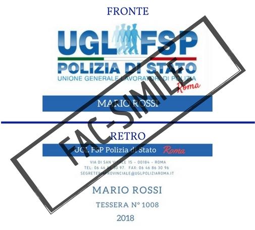 Come richiedere la propria Tessera digitale UGL-FSP Polizia di Stato Roma. Anno 2018