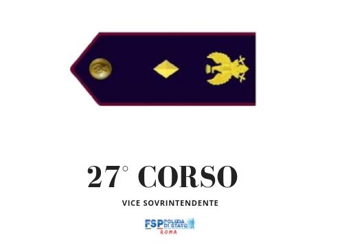 Nomina alla qualifica di Vice Sovrintendente del personale giudicato idoneo al termine del 2° ciclo del 27° corso.
