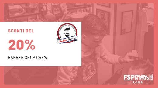 Convenzione con Barber Shop Crew.