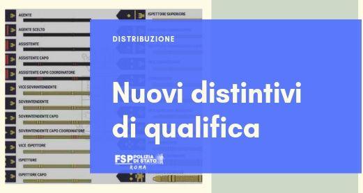 Distribuzione nuovi distintivi di qualifica: velcro, controspalline tubolari e metallici.
