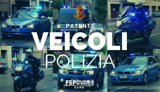 """Corsi per conducenti di veicoli in servizio di Polizia per il rilascio della patente Ministeriale """"certificato 1 e 2"""""""