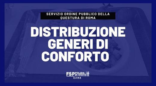 Distribuzione generi di conforto servizio Ordine Pubblico della Questura di Roma Anno 2019-Locale magazzino Benessere di Statilia 30.