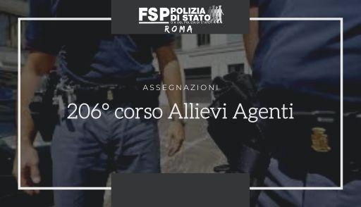 206° corso allievi agenti. Assegnazioni.