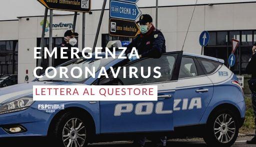 Emergenza Coronavirus. Dotazione dei DPI per il personale impiegato nei servizi automontati. Lettera al Questore