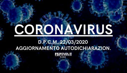 coronavirus autodichiarazione
