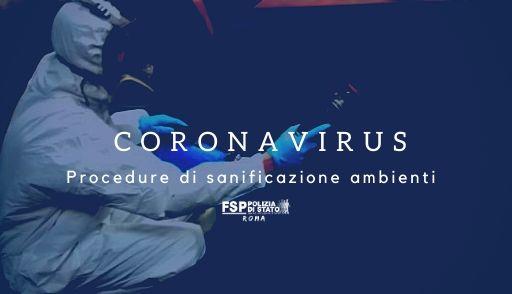 Polmonite COVID-19. Procedure di sanificazione degli ambienti.