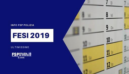 Info FSP. Pagamento FESI 2019. Ultime.