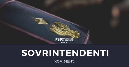 Movimenti sovrintendenti giugno 2020