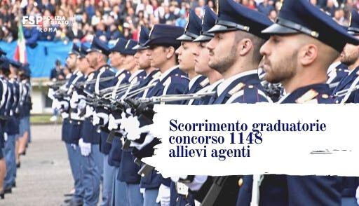 INFO Federazione FSP. Scorrimento graduatorie concorso 1.148 allievi agenti