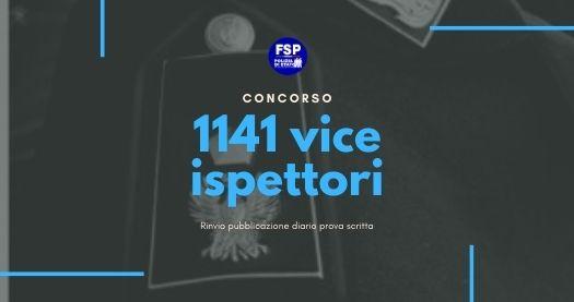 Rinvio pubblicazione diario prova scritta del concorso interno per 1.141 posti per Vice Ispettori